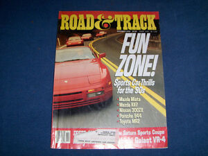 ROAD & TRACK MAGAZINE-11/1990-MAZDA-PORSCHE-RARE BACK ISSUE!