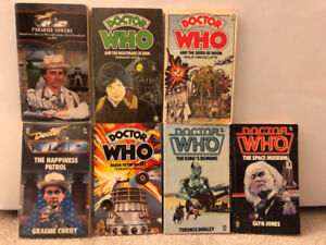 Dr. Who Original Novels - 10 books - vintage