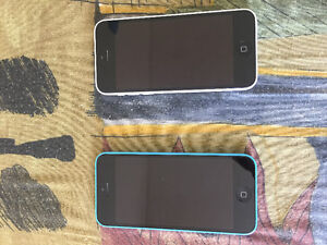 2 IPhone 5c (blue and white) Both in great condition!!!!!