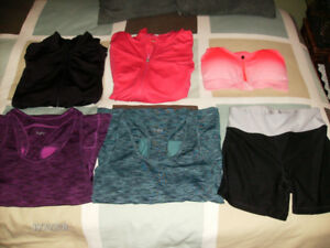 Women's Athletic Wear, Size Small (Tops, Jackets, & Pants)