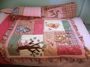 Winnie the poo quilt and bumper pad Kawartha Lakes Peterborough Area image 1