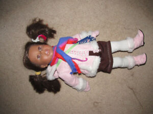 "18"" Newberry Doll with clothes, doll bed and accessories"