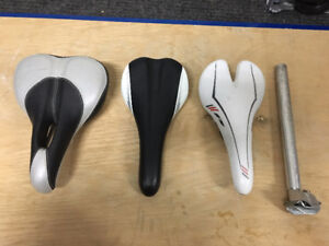 Bicycle seats, post, handle grips, parts