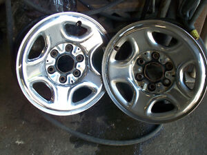 6 x 139 gmc chevrolet 6 bolt chrome wheels ---  trade