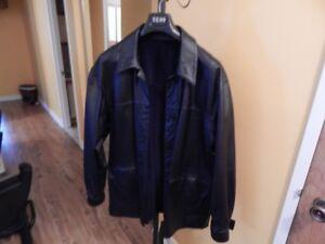 manteau cuir et suède