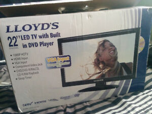"""Lloyds 22"""" LED TV with DVD - Brand New in Box"""