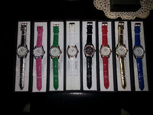 CROTON  LEATHER  WATCHES, 8 colours to choose from $10 each