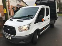 2015 15 NEW SHAPE Ford Transit 2.2TDCi ( 125PS ) L2H2 CREW CAB 7 SEATER TIPPER