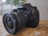 Canon EOS 80D DSLR Camera body only - mint condition