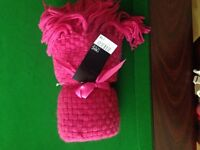 Next pink throw