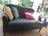 Retro style leather sofa