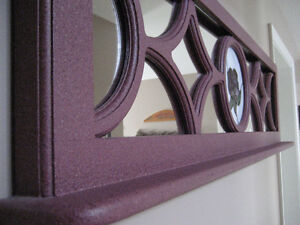 Refinished Window Frame with Stained Glass