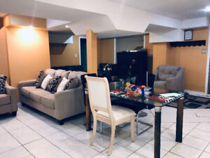3 bedroom basement apartment/walkout available immediately.
