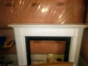 Fireplace Surround with Marble Insert