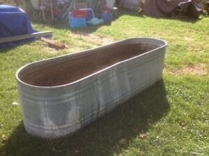 Oval Galvanized Stock Tank, 2.5 ft. W x 8 ft. L x 2 ft. H