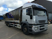 2008 08 Iveco stralis 330 6x2 flat rear mounted PM 30SP crane