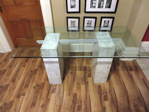 Glass and Marble Desk / Table