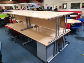 Used desks, 1600mm, huge Glasgow Showroom