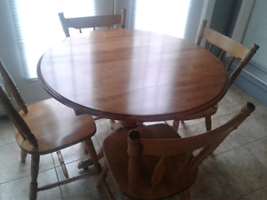Maple drop leaf table set for sale