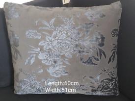 Bespoke Floral Velvet Cushions x 2