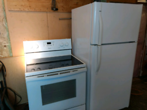 Kenmore refrigerator and stove
