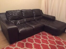 3+2 brown leather sofa set MUST GO THIS WEEKEND