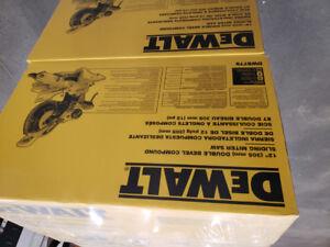 12 inch Dewalt Compound sliding mitre saw - model# dws779 - BNIB