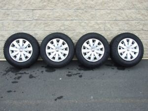 VW Tiguan Winter Tires (Studded), Steel Wheels and Wheel Covers
