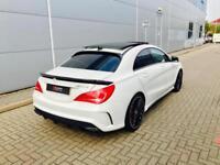 2015 15 reg Mercedes-Benz CLA 45 AMG 2.0 Coupe WHITE + PAN ROOF + HARMON KARDON
