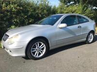 MERCEDES C200 SE ONLY 59,000 GENUINE LOW MILES 1.8 AUTOMATIC COUPE KOMPRESSOR