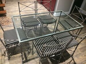 Pier One Iron table and chairs