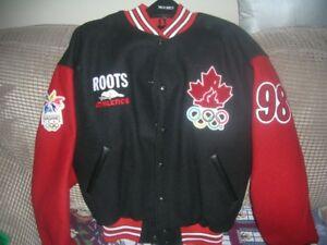 Roots Varsity Jacket-New-Nagano Olympics-Men's Large