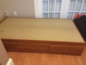 Single bed frame with drawers!