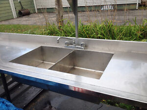 stainless steel sink and counter Kawartha Lakes Peterborough Area image 1