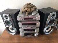 Technics seperates with speakers and remote