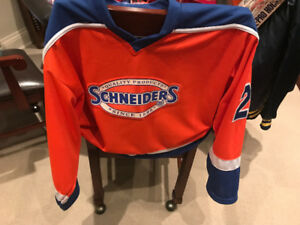 ASSORTED SCHNEIDER'S FOOD MEATS ITEMS APRONS HOCKEY JERSEY TRUCK