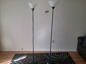 Floor lamp set - less than a year old