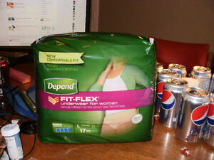 Brand New Unopened Depends and Tena Pads