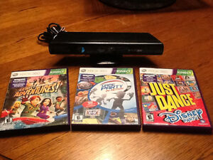 Kinect for Xbox 360 with games