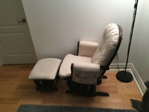 Graco glider + ottoman wooden baby furniture