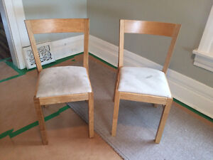 IKEA. 2 birch dining chairs