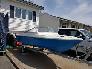 14 foot speed boat and trailer