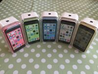 APPLE IPHONE 5C ** ALL COLOURS ** UNLOCKED * FULLY BOXED