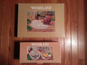 Studio Nova Woodland Platter &/or 4 Bowls