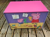Peppa Pig toddler bed and toy box, used but in brilliant condition.