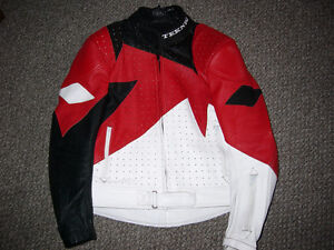 Teknic Leather Motorcycle Jacket - Size 44