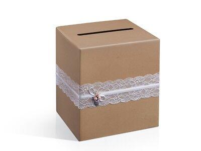 Briefbox / Kuvertbox / Geldbox in braun für Hochzeitskarten - Hochzeitsdeko  (Hochzeit Geschenk-boxen Für Karten)