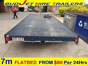 TRAILER HIRE 7m x 2.5m WIDE FLAT BED & 4X4 WITH RAMPS $85 27# Rocklea Brisbane South West Preview