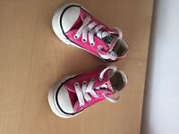 Converse size 4 hot pink