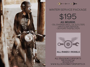 MOTORCYCLE FULL SERVICE SPECIAL! $195 - ALL INCLUSIVE